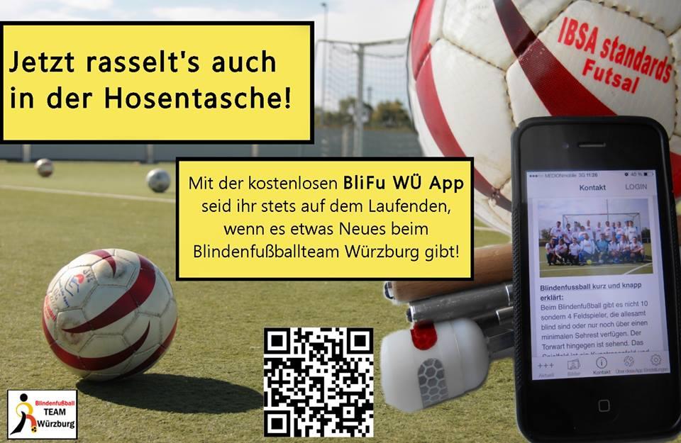 Immer APP to date mit der Blindenfußball Würzburg App