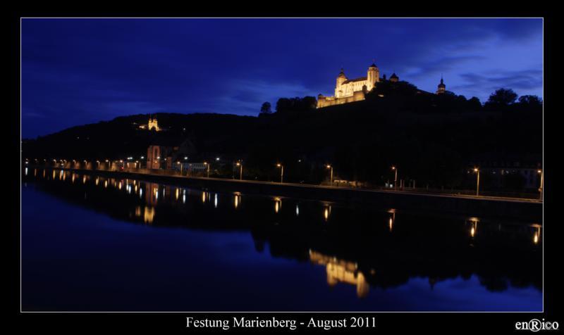 Foto von der Würzburger Festung Marienberg