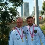 Sebastian und Enrico mit Medaille für ersten Platz