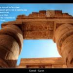 Sonne hinter Säulen, Zitat aus dem egyptian book of the dead