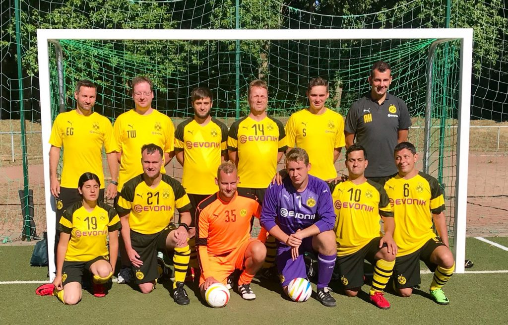 Mannschaftsfoto Borussia Dortmund Blindenfußball