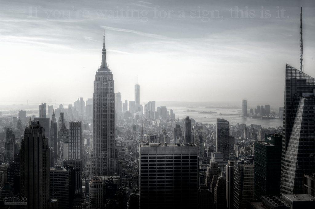 Blick vom Rockefeller Center über Manhatten